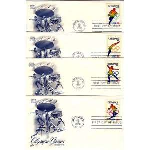 Four USA First Day Covers 1976 Olympic Games Scott #s 1695