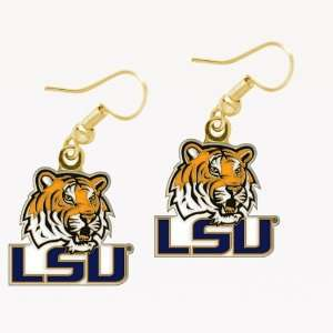 LSU TIGERS OFFICIAL LOGO EARRINGS Sports & Outdoors