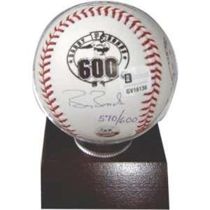 Barry Bonds San Francisco Giants Autographed 600 Home Run