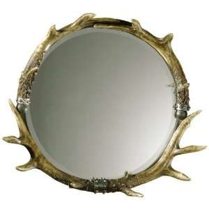 Large Lodge Antler Wall Mirror