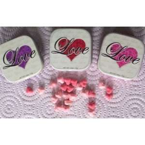 Red Love Heart Mints Tin  Grocery & Gourmet Food