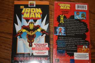 Marvel Comics Iron Man VHS Fox Kids Rare Brand New 086162419232 |