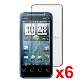 6X CLEAR SCREEN PROTECTOR FOR SPRINT HTC EVO SHIFT 4G
