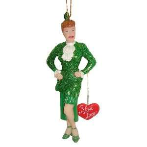 I Love Lucy Lucille Ball Green Dress Christmas Ornament