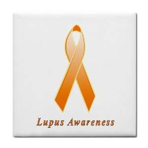 Lupus Awareness Ribbon Tile Trivet: Everything Else