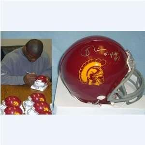Keith Rivers (USC Trojans) Signed Autographed Mini Helmet (PSA/DNA COA