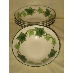of 5 Vintage California Pottery Franciscan Ivy 6 x 2 Inch Bowls USA