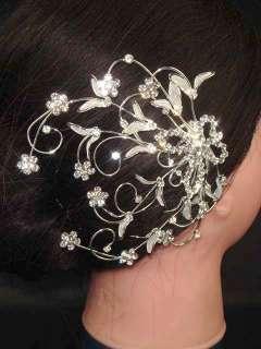 Bridal Rhinestone Headpiece Butterfly Crystal Hair Comb RB31