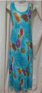 LA FETE WOMENS LONG DRESS BLUE FLORAL ONE SIZE FITS ALL