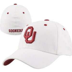 Oklahoma Sooners White Top of the World Flex Fit Hat