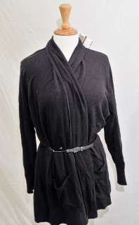 Michael Kors 2X Long Sleeve Open Fronted Belted Cardigan MSRP $110.00