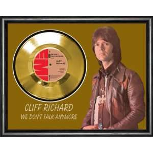 Cliff Richard We Dont Talk Framed Gold Record A3