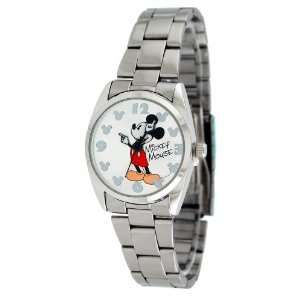 Womens Mickey Mouse Watch with Metal Band  Players & Accessories