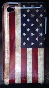 retro look USA America United States flag hard back case cover iPod