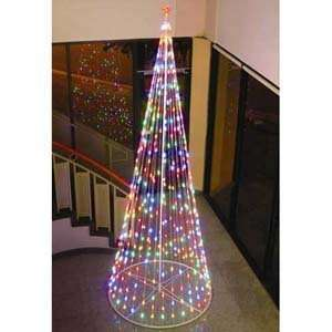 Prelit Christmas Tree, 61377, Multi color LED Outdoor