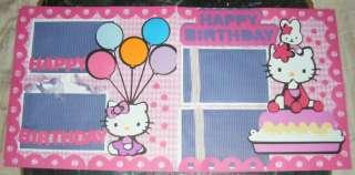 Hello Kitty 12x12 girl pre made Scrapbook Album