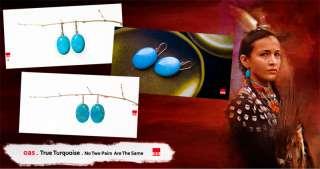14k yellow / Sleeping Beauty Turquoise Drop Earrings   OAS