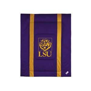 com LSU Tigers Sideline Comforter   Full/Queen Bed Sports & Outdoors