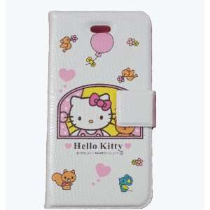 Hello Kitty Flip Leather Case for iPhone 4 4G Cell Phones