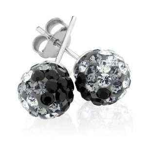 Swarovski Crystal Elements Black Ombro Earrings Jewelry