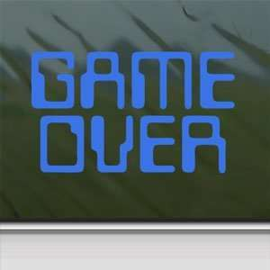 Game Over Blue Decal Truck Bumper Window Vinyl Blue