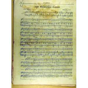 1885 Music Score Songs French Print Mousset Leite: Home