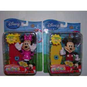 Disney Mickey Mouse and Minnie Mouse Clubhouse Figure Set