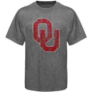NCAA Oklahoma Sooners Ash Big Logo T shirt Sports
