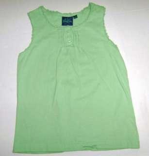 Mini Boden Girl Summer Floral Green Tank Top Shirt Lot 9 10 EUC