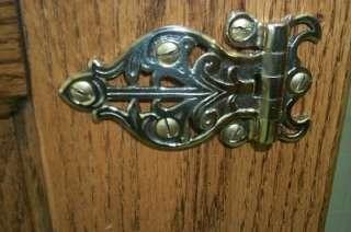 All Original Circa 1890s American Oak Large 2 Door Ice Box