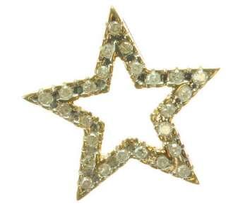 LADIES 10K YELLOW GOLD DIAMOND STAR ESTATE PENDANT 87023