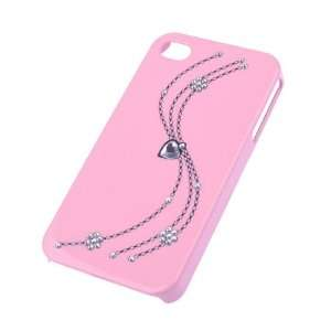 Light Pink With Diamond Design Hard Case Cover For Apple