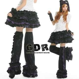 PUNK gothic KERA Lolita NANA 61084 PURPLE SKIRT +LegWarmer M
