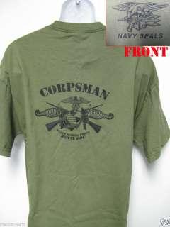 NAVY SEAL T SHIRT/ NAVY CORPSMAN T SHIRT