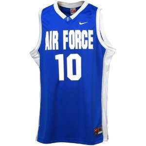 Nike Air Force Falcons #10 Royal Blue Replica Basketball