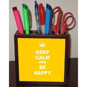 Rikki KnightTM Keep Calm Be Happy   Yellow Color 5 Inch