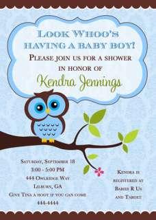 OWL BABY SHOWER INVITATIONS U PRINT FAST