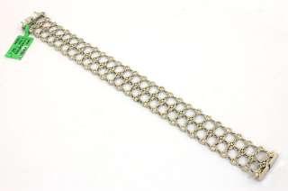 GREGG RUTH 18K GOLD & DIAMONDS THREE ROWS LADIES BRACELET NWT RETAIL $