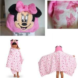 DISNEY MINNIE MOUSE TOWEL HOODED BATH TOWEL Butterfly