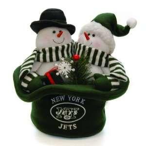 12 NFL New York Jets Plush Snowmen Top Hat Christmas Table Decoration