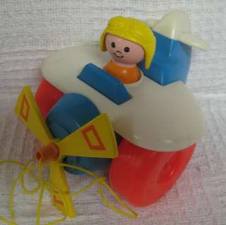 ALONG PLANE Fisher Price Little People Airplane Cord Attached