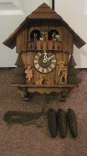 VINTAGE German Black Forest German Cuckoo Clock Hummel Musical Swiss