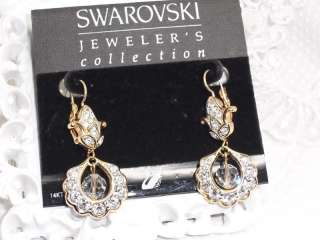 Jewelers Collection 14K gold Crystal Drop Earrings RETIRED NEW