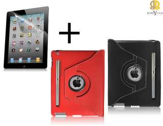 3in1 ipad 3 Smart 360° Degree Rotating Leather Case Cover Swivel