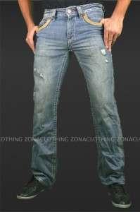 Affliction Moss St. Louis Denim Jeans Relaxed Boot Flap Pocket LA