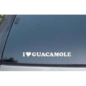 I Love Guacamole Vinyl Decal Stickers