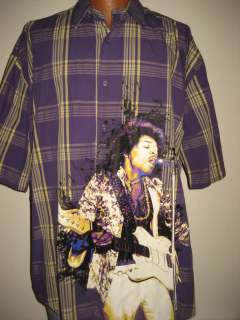 Hendrix Dragonfly Button Down Shirt Mens XXL Very Hard to Find Rare