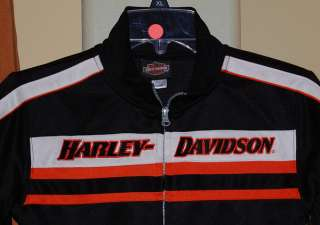 HARLEY DAVIDSON HD MOTORCYCLE BLACK ORANGE TRACK JACKET KIDS YOUTH