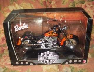 HTF Harley Davidson Barbie Flames Fatboy Motorcycle MIB