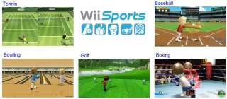 Nintendo Black Wii Console 3 Games 2P Bundle Mario Kart 045496880019